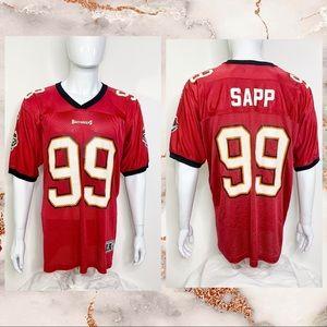 NFL Starter VTG Warren Sapp Football Jersey Sz L